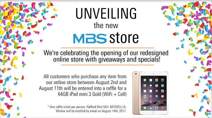 MBS Online Shop Grand Opening with Specials on iPad b15b0f8f87c